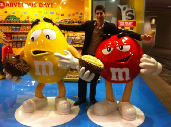 M&M's are durian fans too!