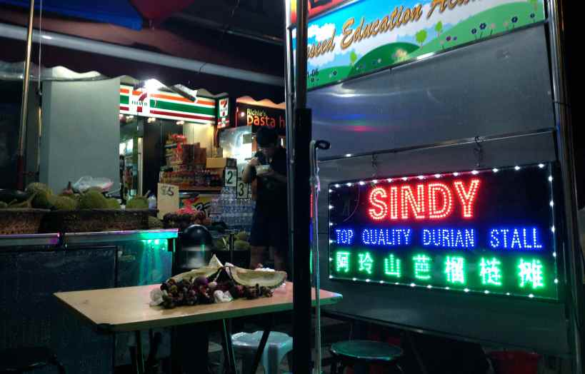 "The ""Sindy"" Durian Stall in Balestier"